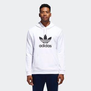 NWOT Adidas white trefoil hoodie size M!